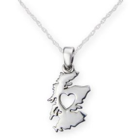 From the Heart of Scotland Silver Plated Pendant 9975